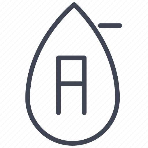 a, blood, health, medical, medicine, negative, type icon