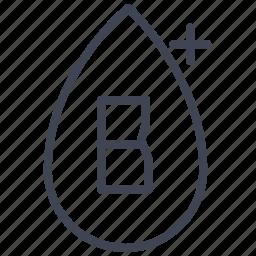 b, blood, health, medical, medicine, positive, type icon