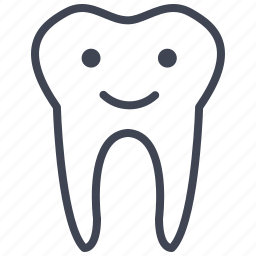 dental, dentist, face, happy, smiley, tooth icon