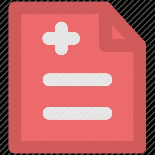 hospital doc, medical chart, medical report, medications, prescription icon