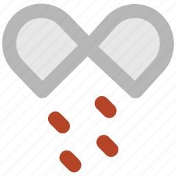 drugs, medical pills, medications, medicines, open capsule, pills, tablets, vitamins icon