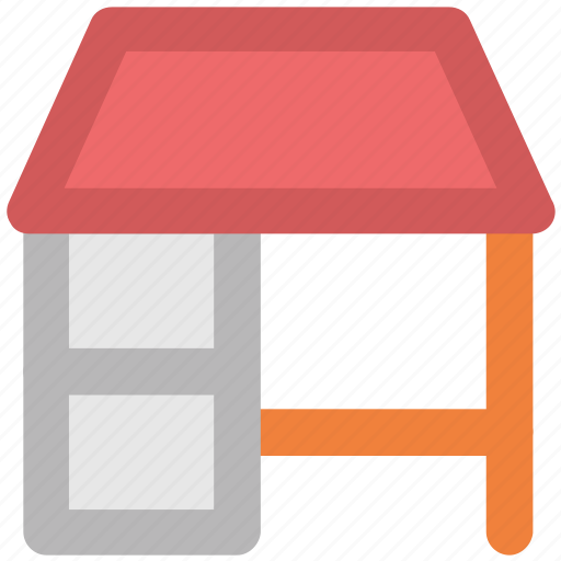 desk, furniture, office equipment, office table, table icon
