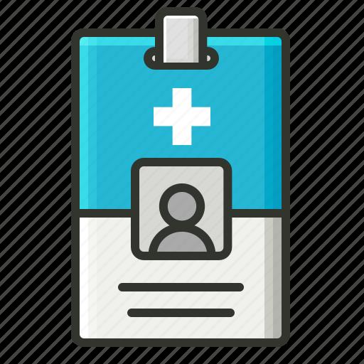 hospital, id, id card icon