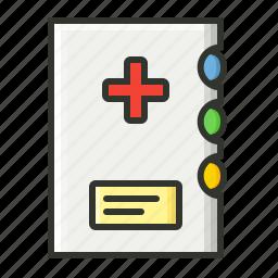 dairy, medical, patient report, prescription icon