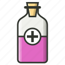 medicine, syrup, syrup bottle icon
