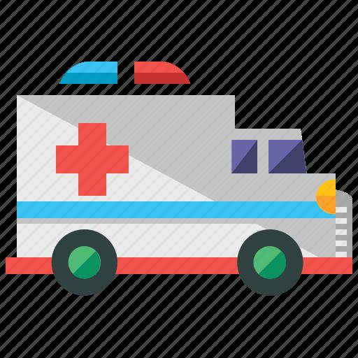 ambulance, care, health, medical, transport, transportation, vehicle icon