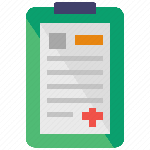 care, chart, clipboard, health, hospital, medical icon