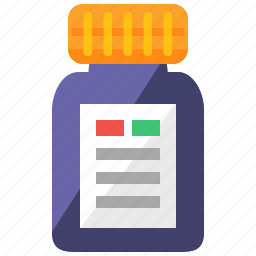 bottle, care, health, medical, medication, pills icon