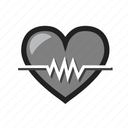 health, heart, heart care, heart health, monitor, well being icon