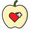 apple, fitness fruit, healthy life, life icon