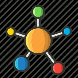 atom, chemistry, molecule, orbit proton, research, science icon