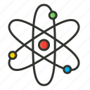 atom, nuclear, physics, proton, quantum, science icon
