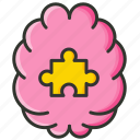 brain puzzle, creative idea, human brain, solution thoughts icon