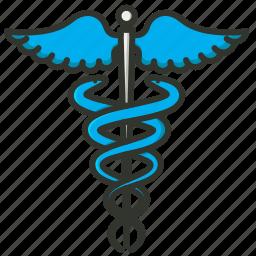 caduceus, health, health logo, healthcare, medical, medical sign, snake wings icon
