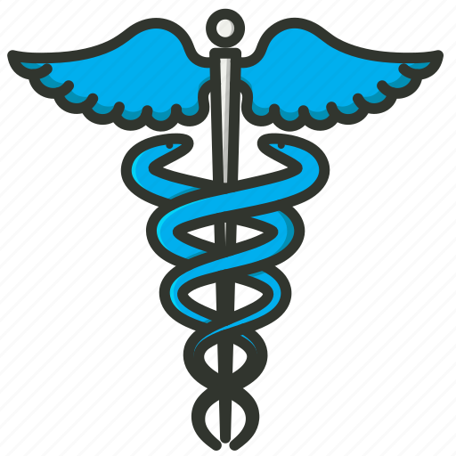 caduceus, healthcare, medical sign, snake wings icon