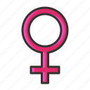 female, female symbol, girl, sex symbol, women icon