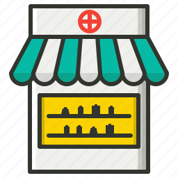 drugstore, medical store, pharmacy, pharmacy shop icon