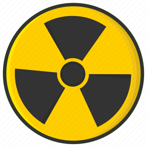 danger, medical, nuclear, nuclear fusion, radiation, radioactivity, toxic symbol icon