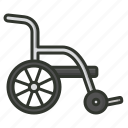 armchair, disability chair, disable, emergency, handicap, wheel chair icon