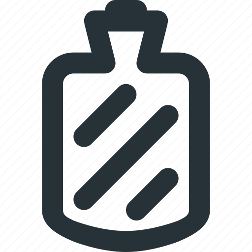 bottle, equipment, fever, hot, tool, water icon