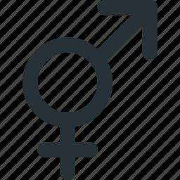 gender, lgbt, transexual, transgender, transition icon