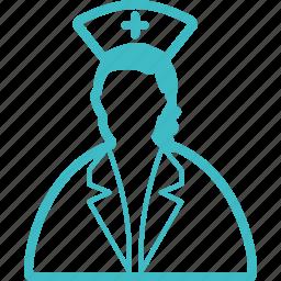 doctor, lady, nurse, sister icon