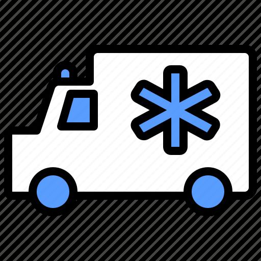 ambulance, emergency, health, hospital, medical, transportation, vehicle icon