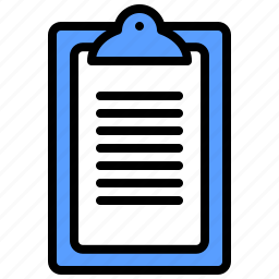 clipboard, form, healthcare, list, notes, report, survey icon
