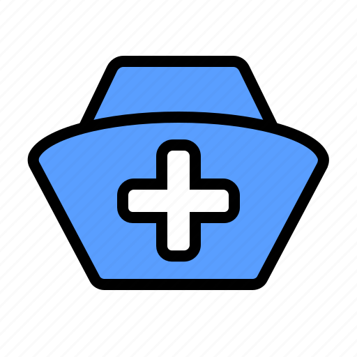 cap, hat, health, hospital, nurse, uniform icon