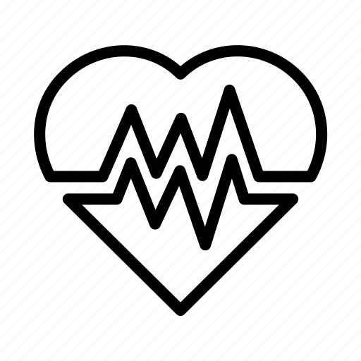health, heart, heart attack, medical, monitor, pulse, rate icon