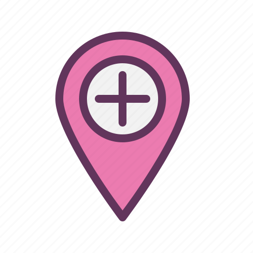 hospital, location, mark, medical, navigate, navigation, tag icon