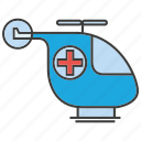 helicopter, medical, transport, urgency icon