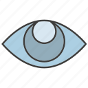 eye, iris scan, scan, view icon