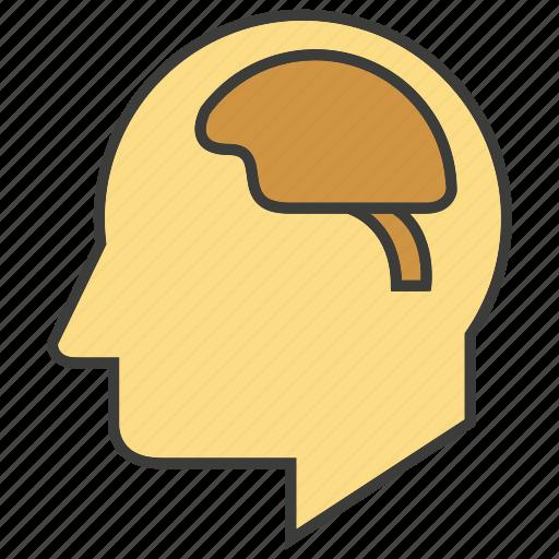 brain, head, human, man, mind, think icon