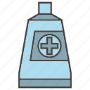 dentifrice, mecial, medicine, toothpaste, tube icon