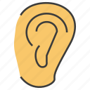 ear, hear, listen icon