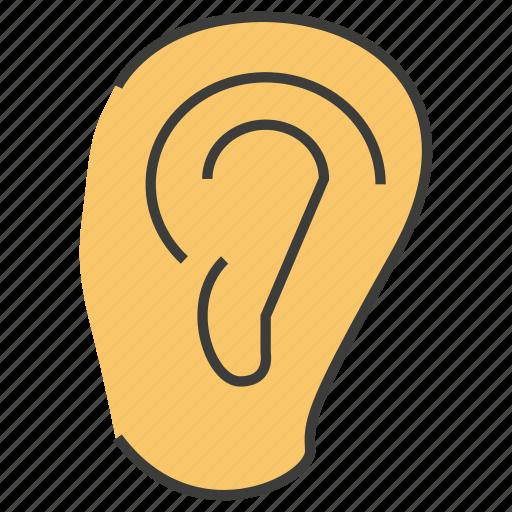 ear, hear, listen icon