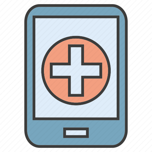 medical, mobile, phone icon