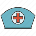 cap, cure, emergency, hat, heal, hospital, nurse icon