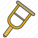 crutch, rehabilitation, walking stick icon
