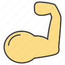 arm, hand, muscle icon