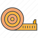 measure, measuring tape icon