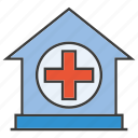 home, medical, nursing home icon
