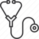 cardio, diagnostic, medical, stethoscope icon