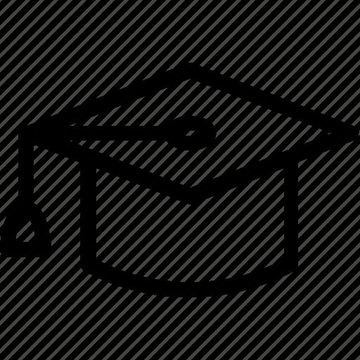 cap, degree, diploma, graduation, student icon icon