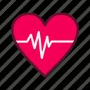 pulse, rate, heart, heartbeat, star