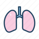 body part, human, lung, medical, organ icon