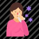 sickness, sick person, patient, flu, fever, medical disorder, corona symptoms icon