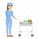 hospital trolley, instrument trolley, medicine, medicine cart, medicine trolley, surgical trolley, trolley icon