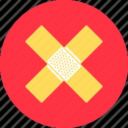 bandage, bandaid, emergency, hospital, medicine, pharmacy, plaster icon